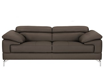 Dash Dark Gray Microfiber Loveseat