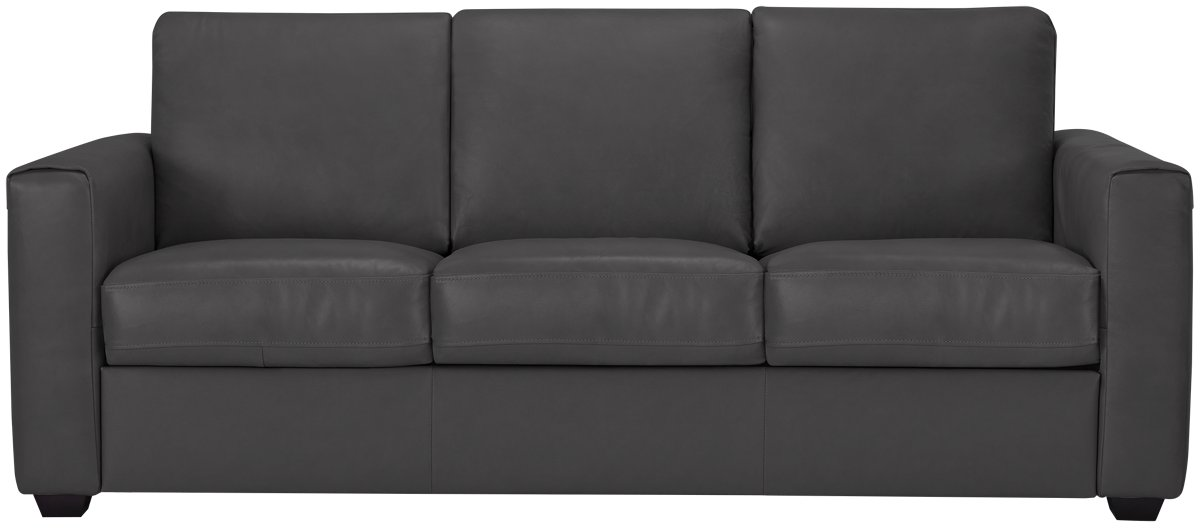 Home Design Furniture Synchrony City Furniture Lane Dark Gray Leather Amp Vinyl Sofa