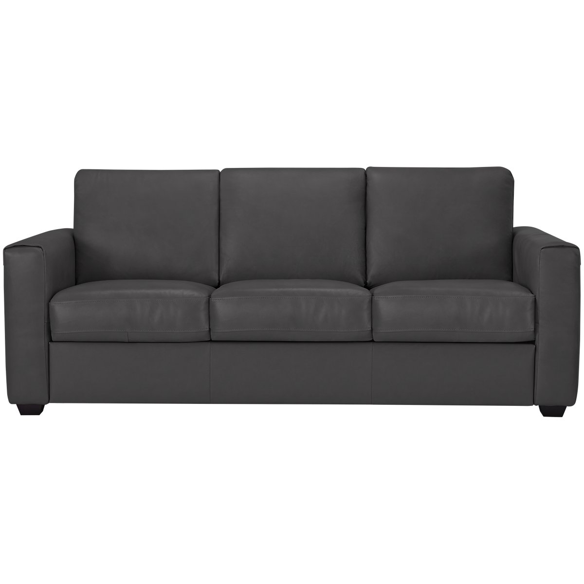 Lane Dark Gray Leather & Vinyl Sofa