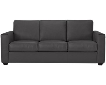 Lane Dark Gray Leather & Vinyl Sofa