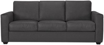 Lane Dark Gray Leather U0026 Vinyl Sofa