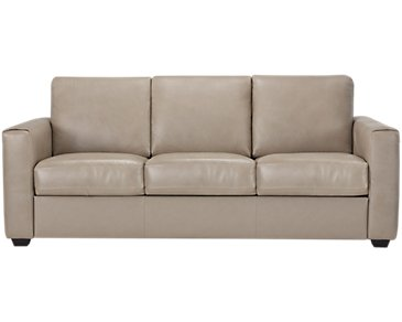 Lane Taupe Leather & Vinyl Sofa