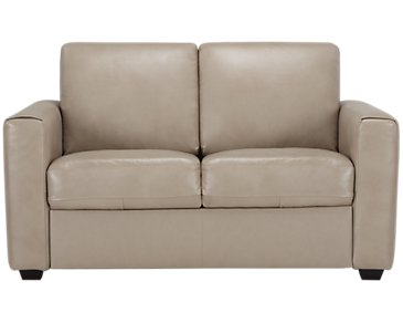 Lane Taupe Leather & Vinyl Loveseat