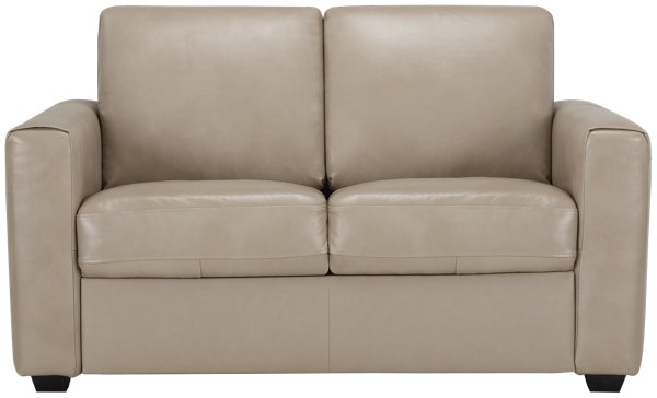 Review image of Lane Taupe Leather & Vinyl Loveseat with sku Idea - Luxury leather beige sofa Top Search