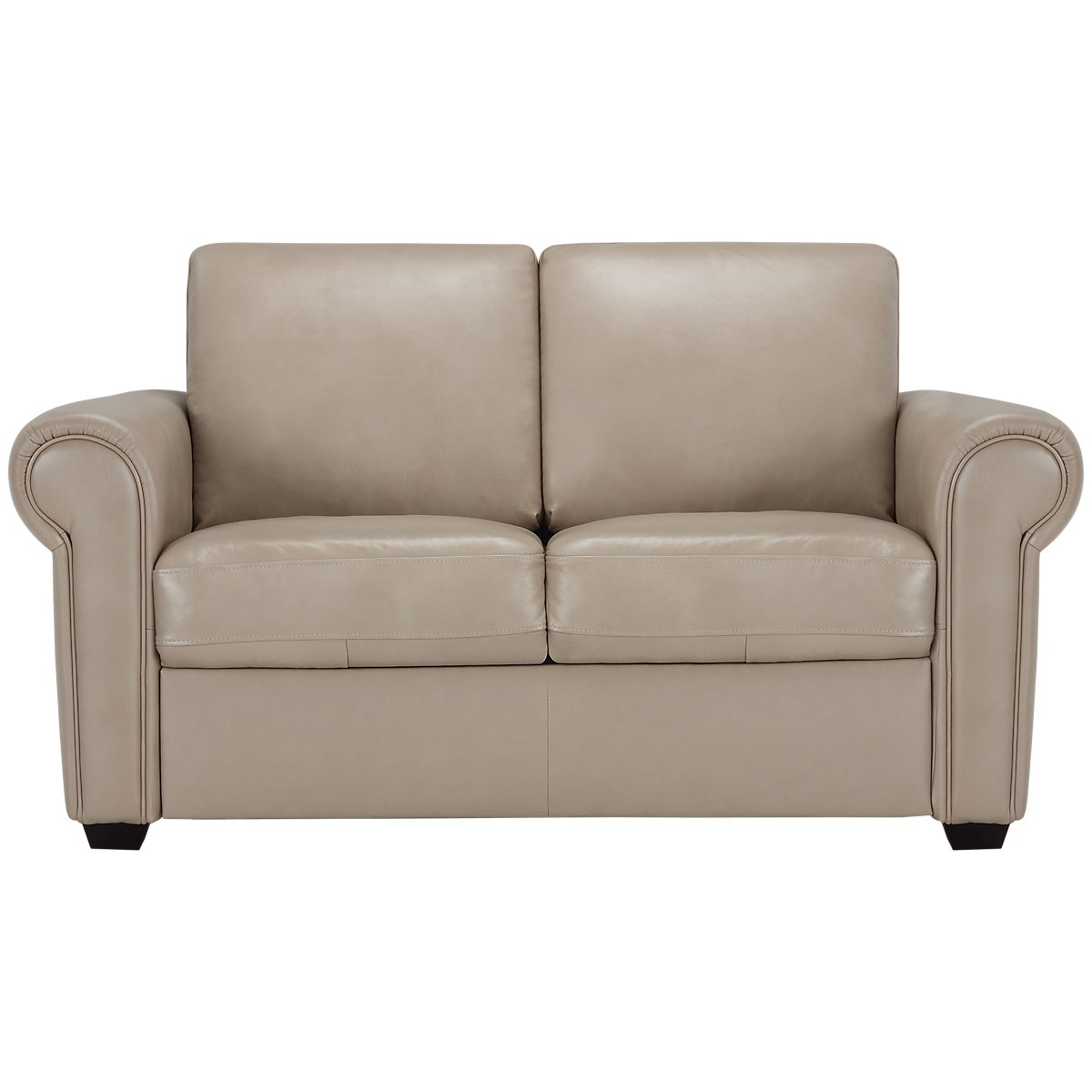 Lincoln Taupe Leather & Vinyl Lthr/vinyl Loveseat