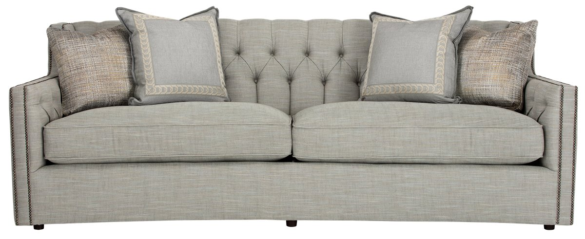 City Furniture Candace Lt Blue Fabric Sofa