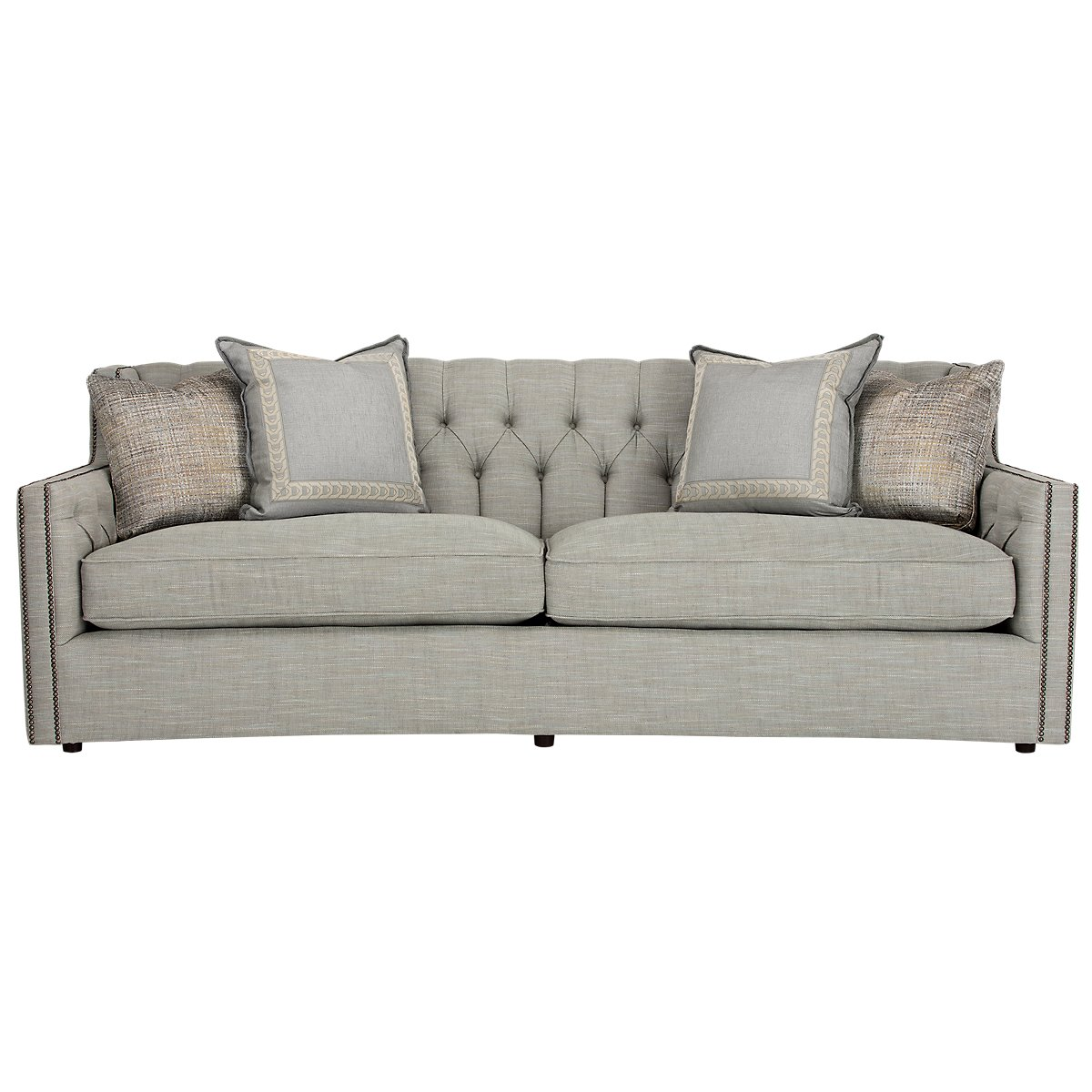 Candace Light Blue Fabric Sofa