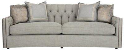 Candace Light Blue Fabric Sofa