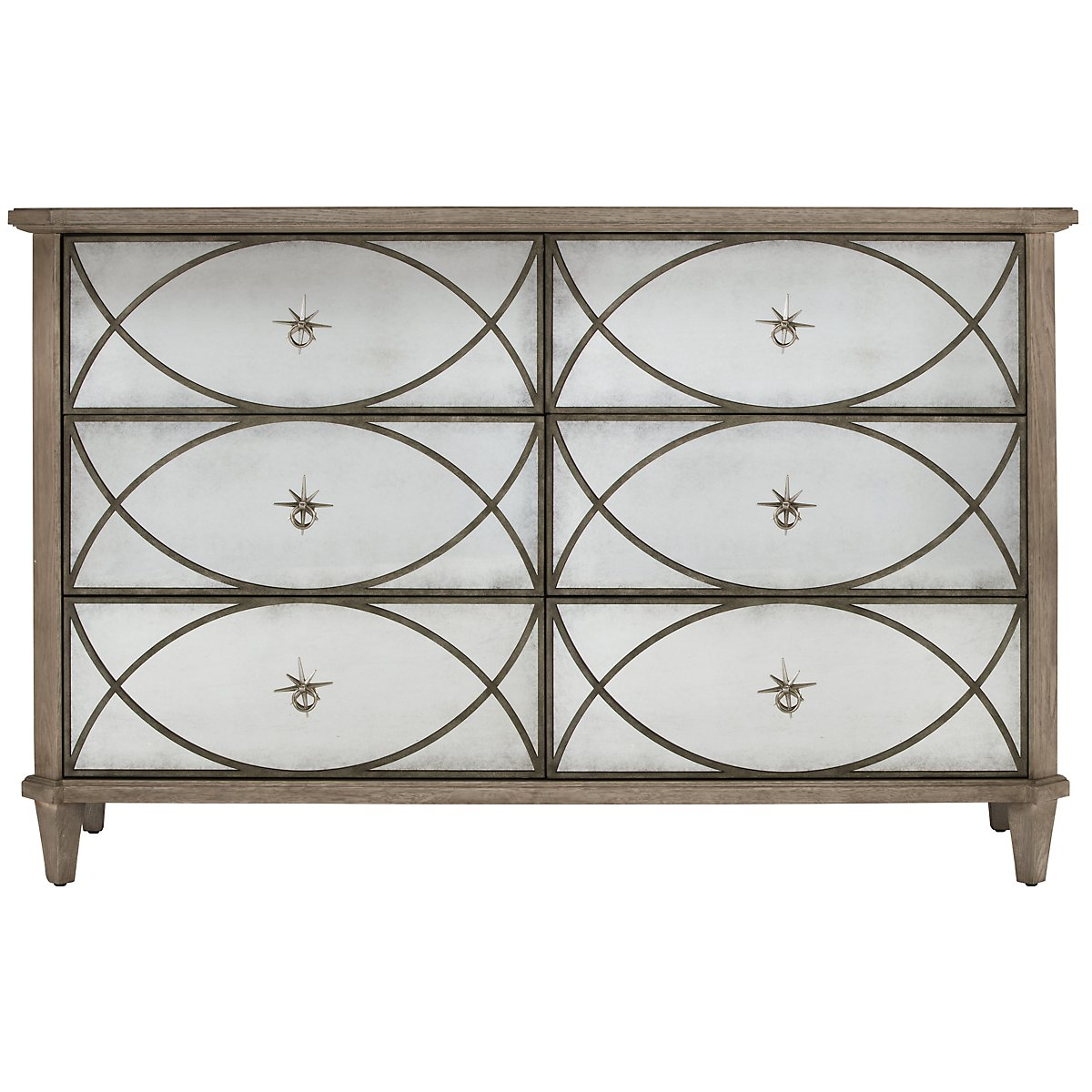 Marquesa Gray Mirrored Dresser