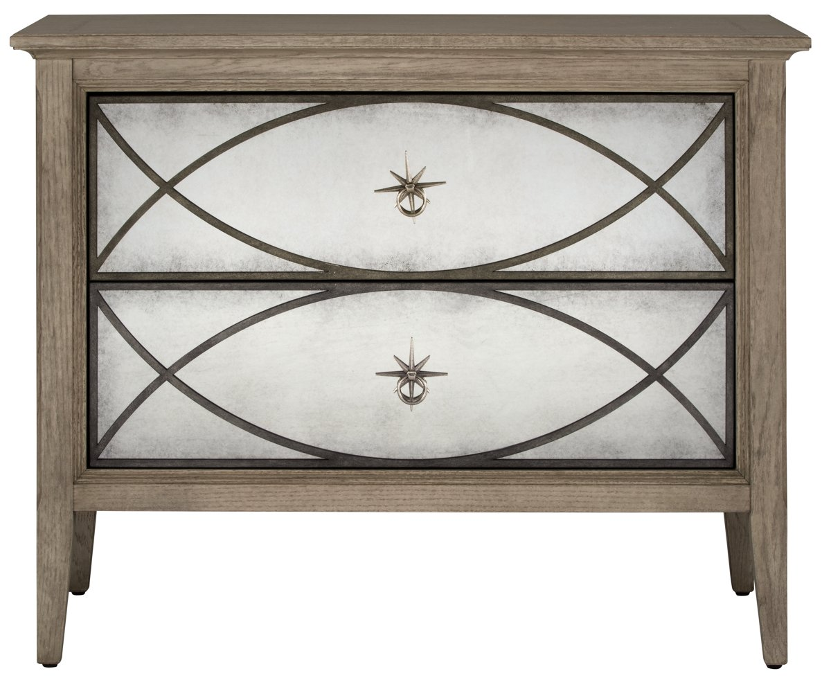 City Furniture Marquesa Gray Mirrored Nightstand