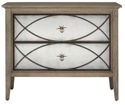 marquesa gray mirrored nightstand