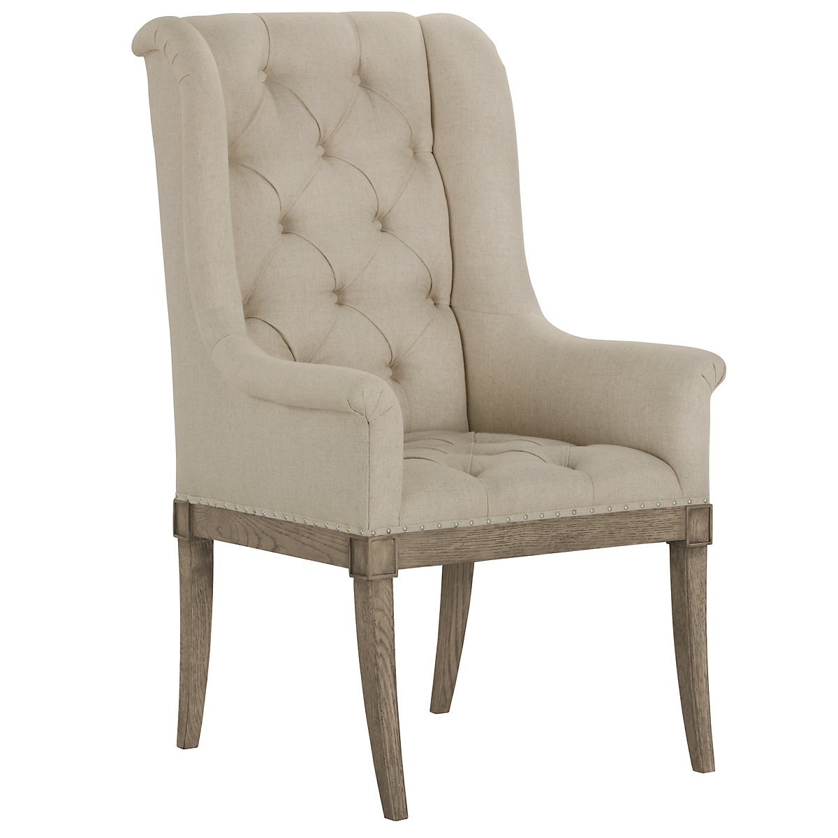 Marquesa Beige Upholstered Arm Chair