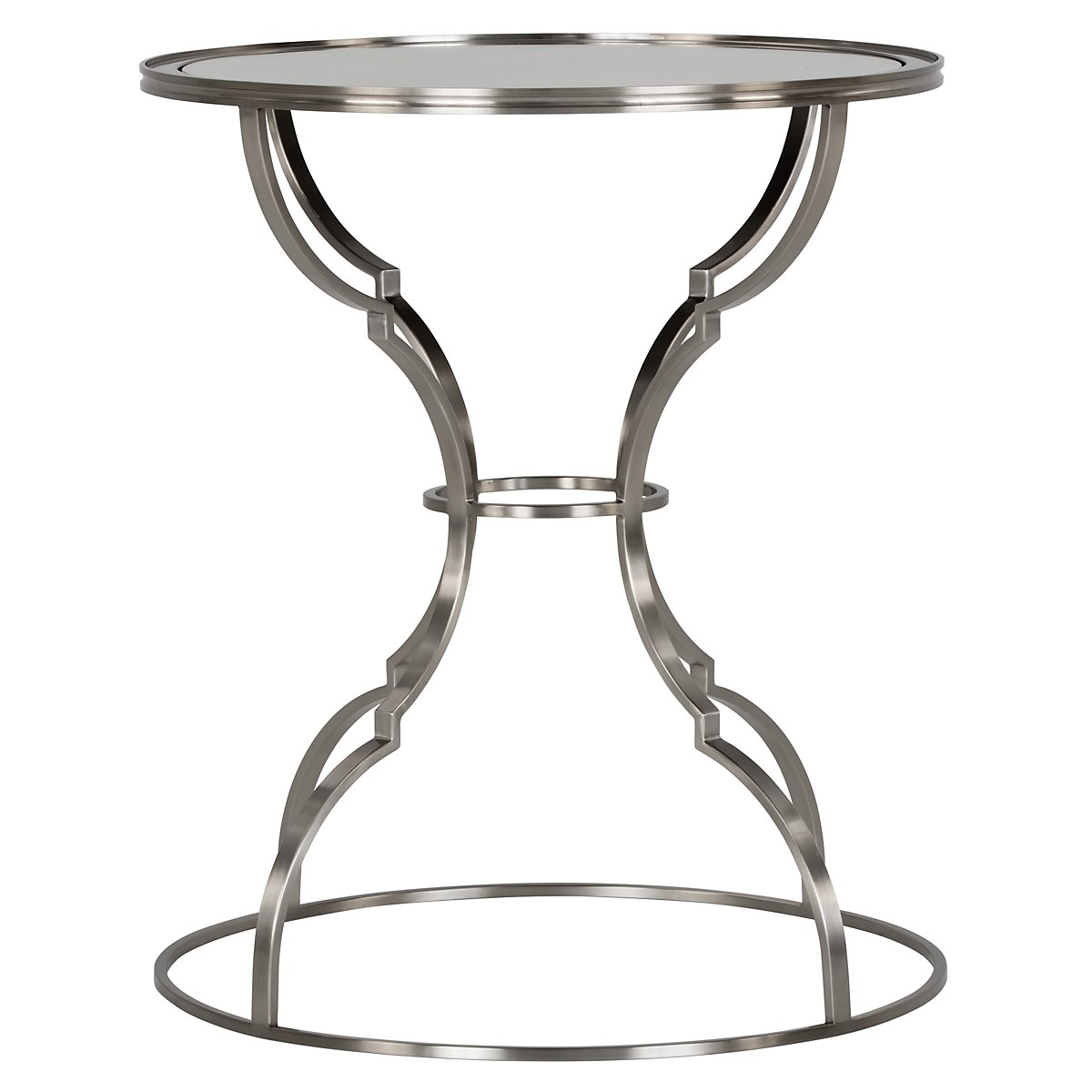 Laurel Large Mirrored Round End Table