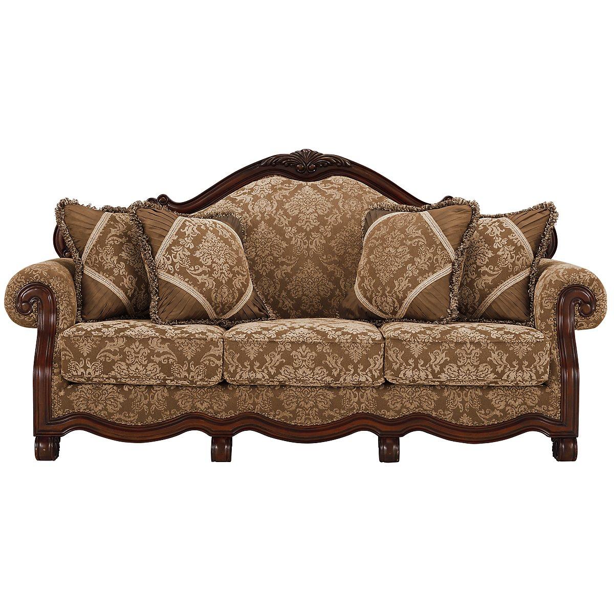 Regal Dark Tone Fabric Sofa
