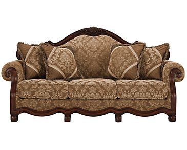 Regal Dark Tone Fabric Sofa