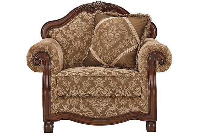 Regal Dark Tone Fabric Chair
