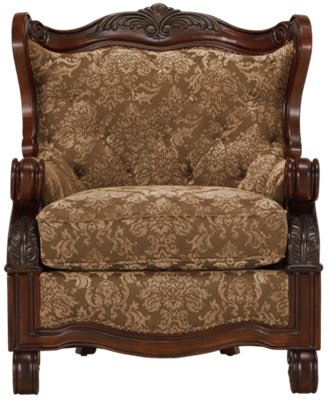... Regal Dark Tone Fabric Accent Chair
