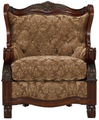 ... Regal Dark Tone Fabric Accent Chair