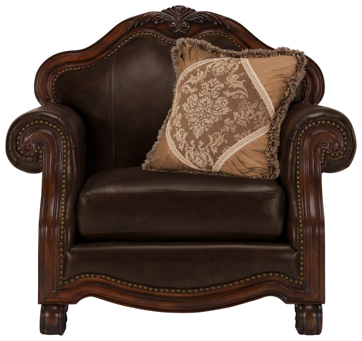Regal Dark Tone Leather Chair