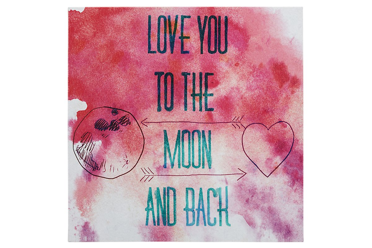 To the Moon Pink Canvas Wall Art. Shop Now.
