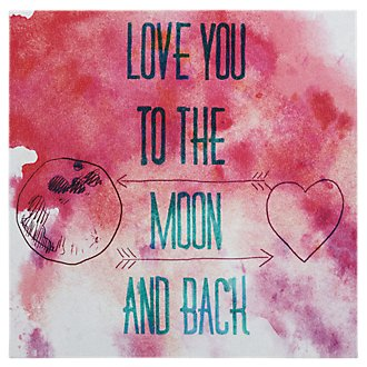 To The Moon Pink Canvas Wall Art