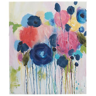 Flowers Multicolored Canvas Wall Art