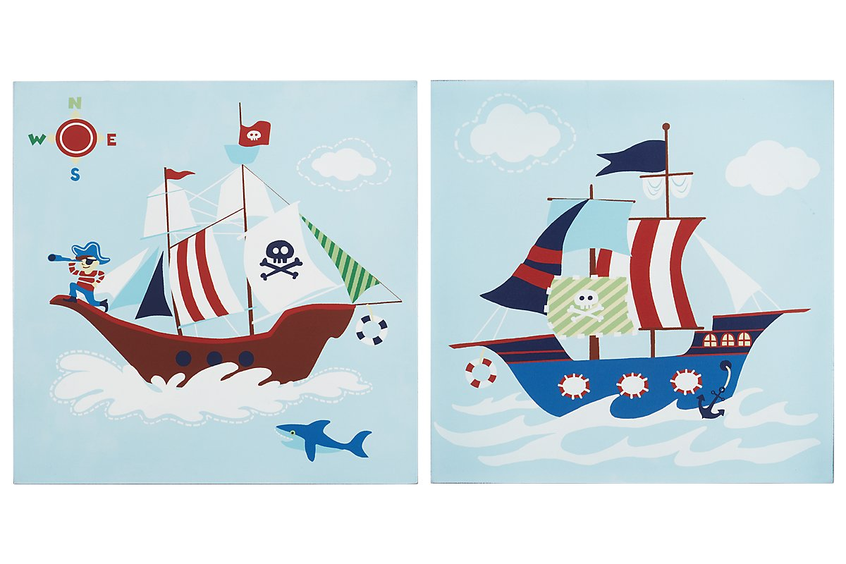 Ahoy Multiset of 2 Wood Wall Art. Shop. Now.