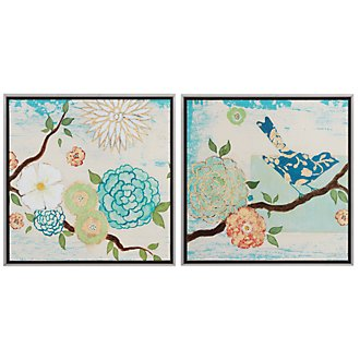 Blooming Floral Set Of 2 Wall Art