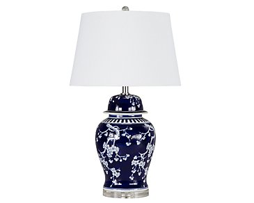 Brohman Dark Blue Table Lamp