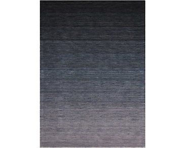 Haze Dark Blue 8X11 Area Rug