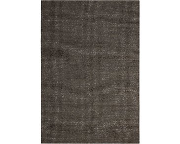 Lowland Dark Brown 5X7 Area Rug