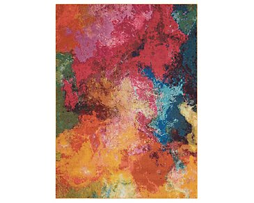 Palt Multicolored 8X11 Area Rug