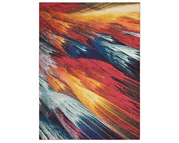 Burst Multicolored 5X8 Area Rug