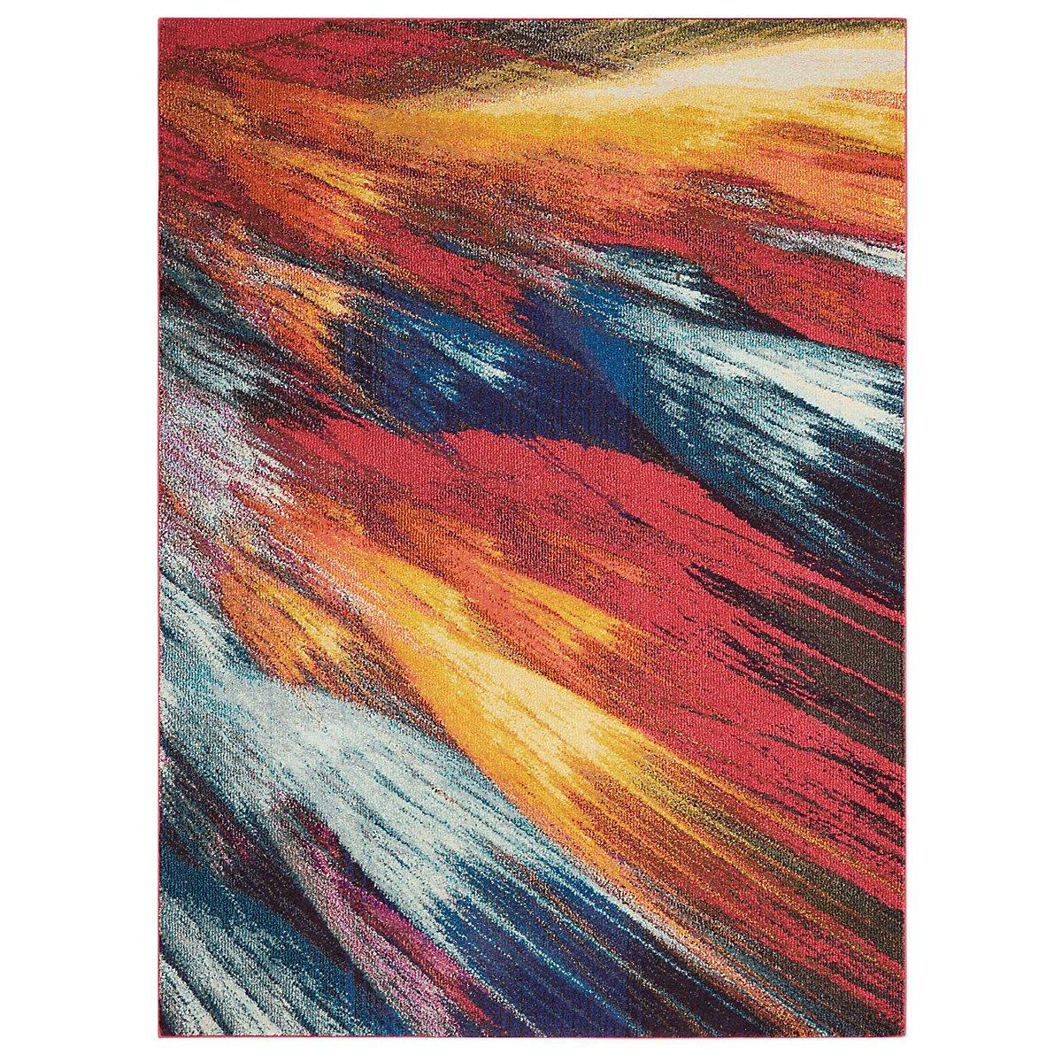 Burst Multicolored 8X11 Area Rug