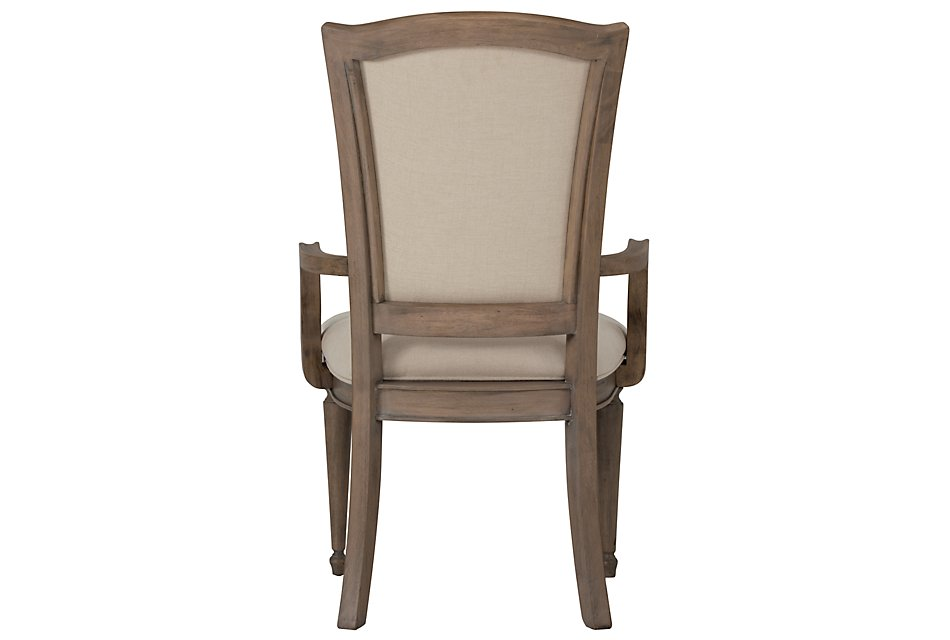 Haddie Light Tone Wood Wood Arm Chair