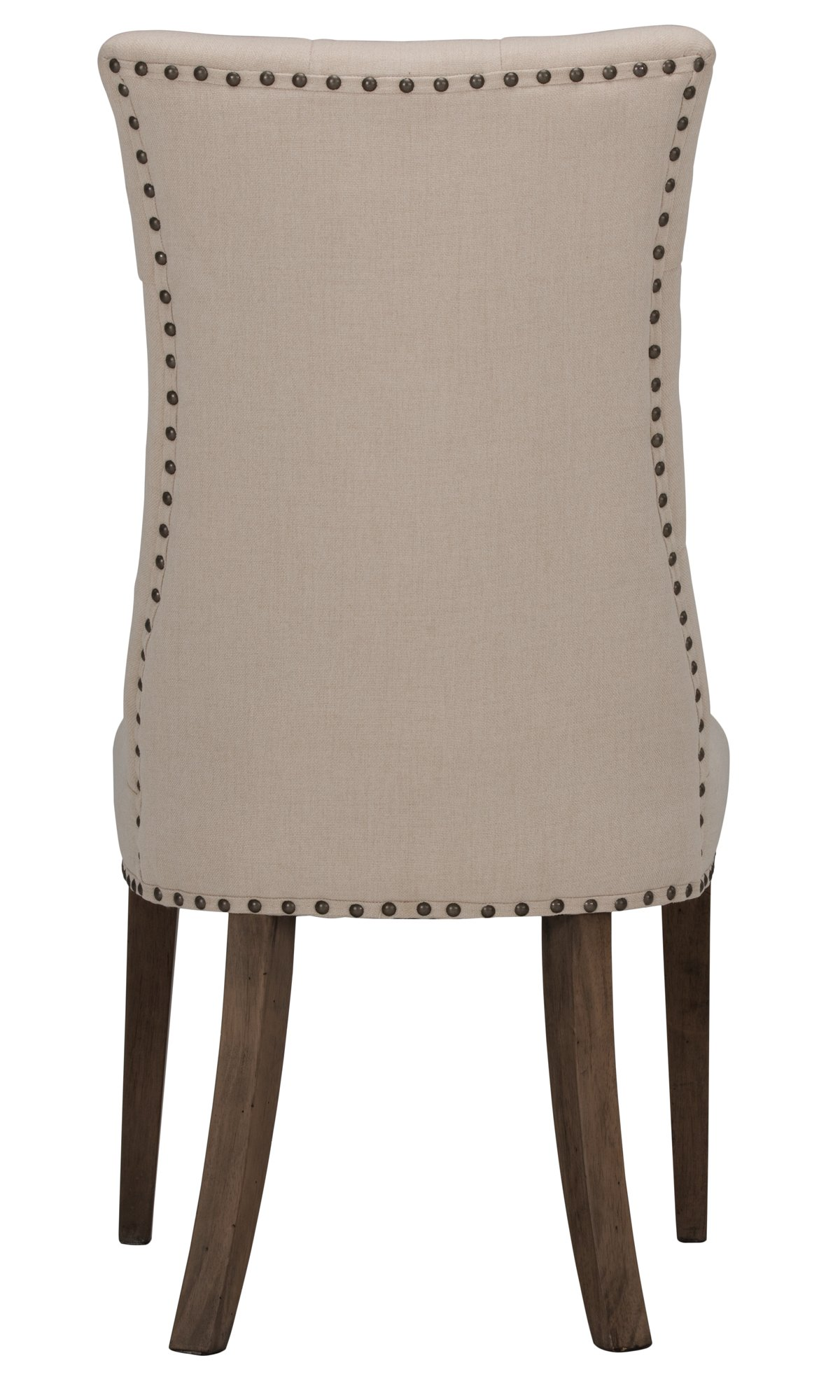 Haddie Light Tone Fabric Upholstered Side Chair