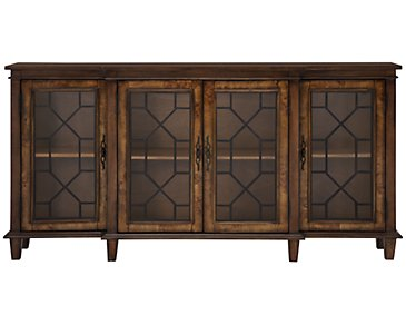 Cresthill Mid Tone Four-Door Cabinet