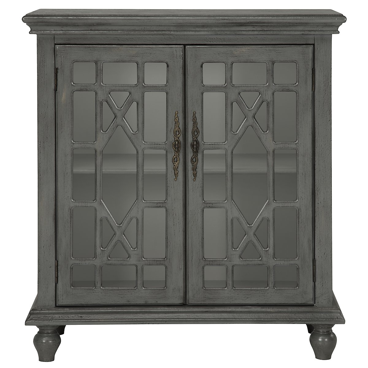 Alexis Gray Wood Two-Door Cabinet