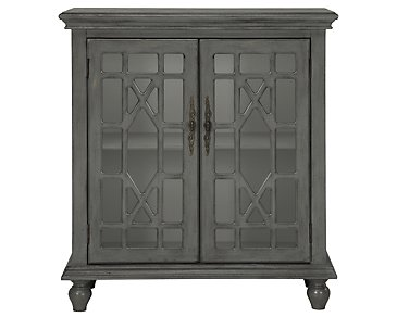 Alexis Gray Two-Door Cabinet