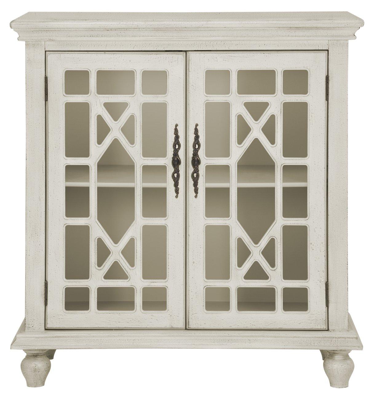 Alexis Ivory Wood Two-Door Cabinet