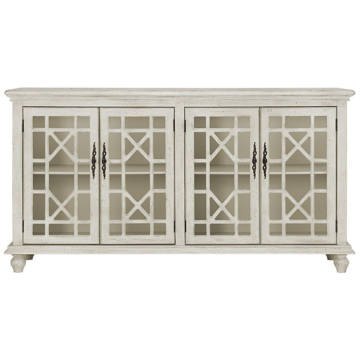 Alexis Ivory Wood Four-Door Cabinet