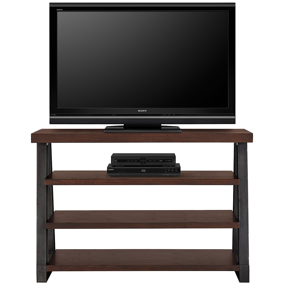 dakota dark tone 44 tv stand. Black Bedroom Furniture Sets. Home Design Ideas