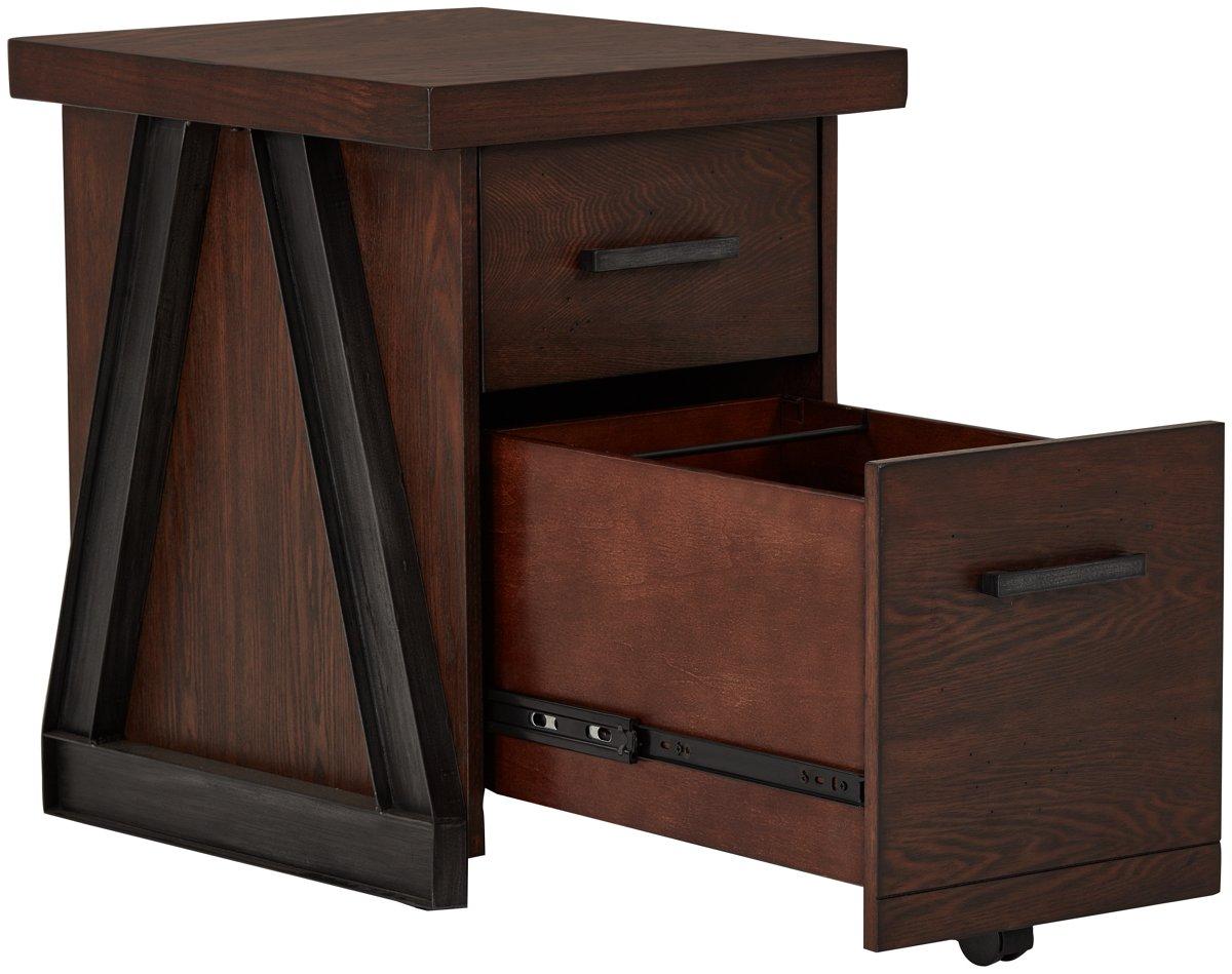 Dakota Dark Tone Wood File Cabinet