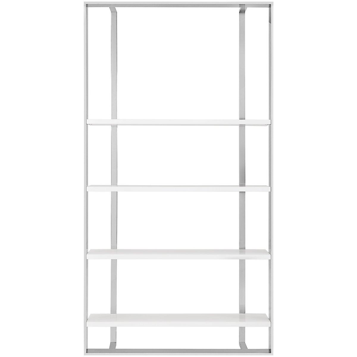 Neo White Wood Large Bookcase