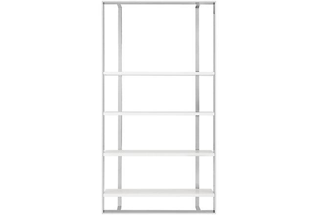Neo White Wood Bookcase