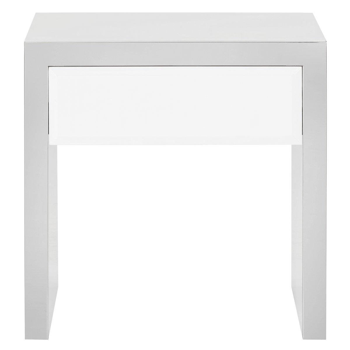 Dane White End Table