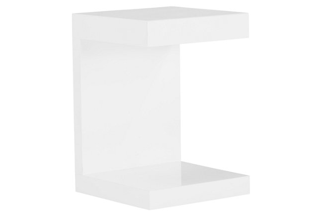 Chase White Wood End Table