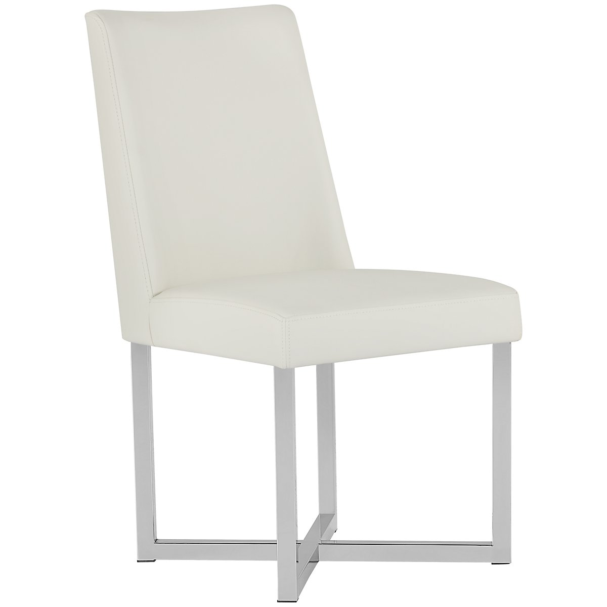 Howard White Upholstered Side Chair