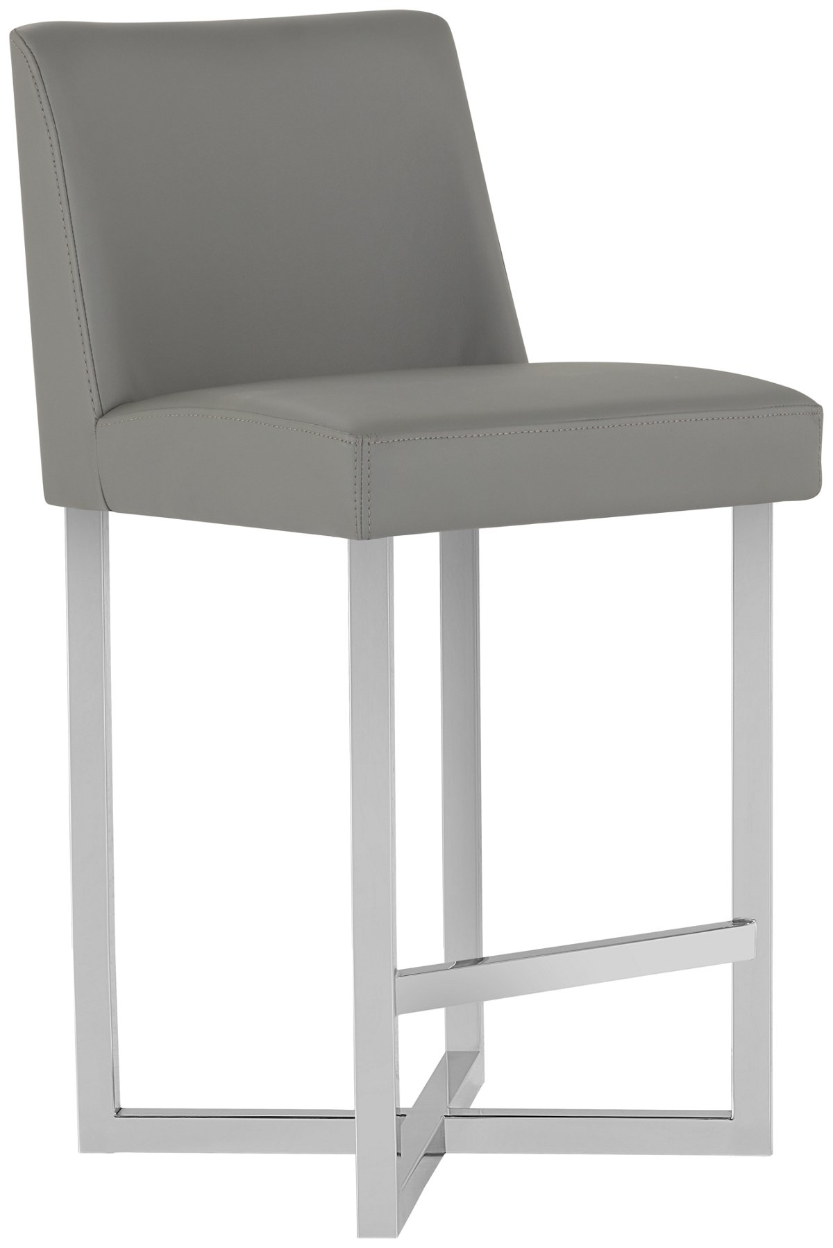"Howard Gray Upholstered 24"" Upholstered Barstool"