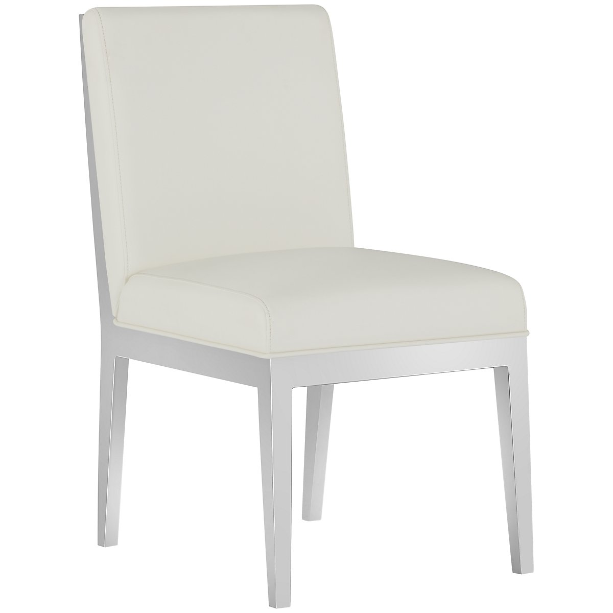 Neo White Upholstered Upholstered Side Chair